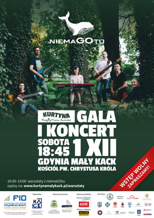 Koncert niemaGOtu wraz z Galą Finałową Kurtyny 2018